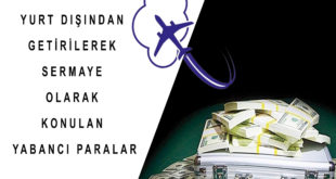 Yurt Dışından Getirilerek Sermaye Olarak Konulan Yabancı Paralar